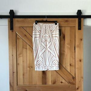 Thalia Sodi White Midi Skirt
